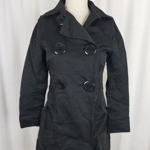 Soia & Kyo S&K Black Double Breasted Trench Coat S
